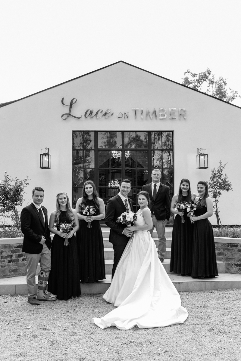 Dust and Dreams Photography Lace On Timber Bridal party